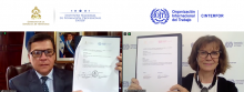 Firma de acuerdo INFOP - OIT/Cinterfor 2020