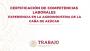 Certificación: Experiencia en la agroindustria de la caña de azúcar. STPS, México
